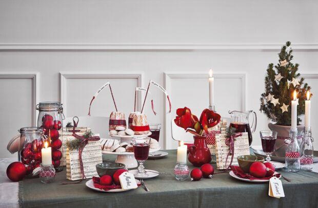 ideen f r die weihnachtliche tischdeko zuhausewohnen. Black Bedroom Furniture Sets. Home Design Ideas