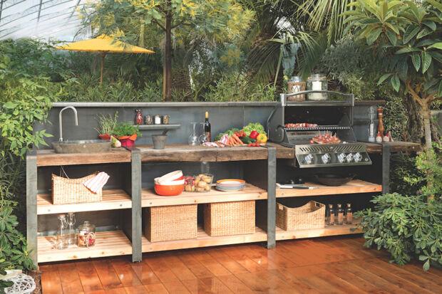 outdoor in der asiatischen küche