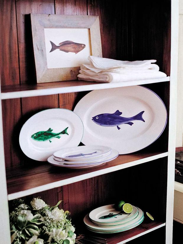 maritimes geschirr zuhausewohnen. Black Bedroom Furniture Sets. Home Design Ideas