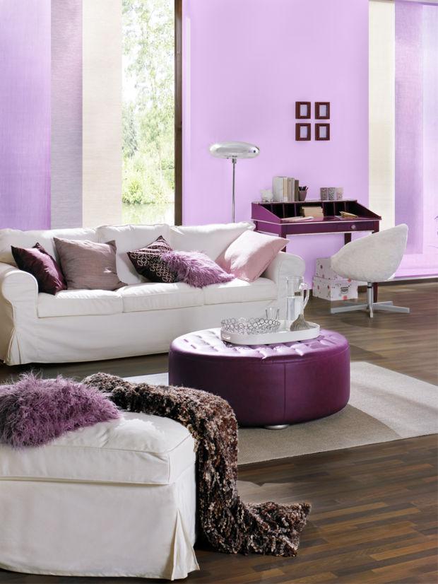 sinnliche wohndeko in lila zuhausewohnen. Black Bedroom Furniture Sets. Home Design Ideas