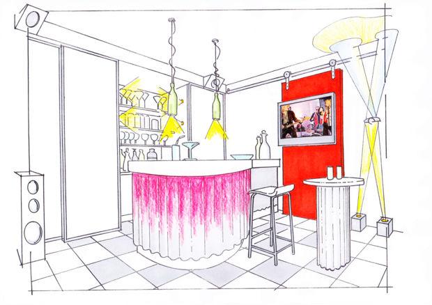 den eigenen partykeller einrichten zuhausewohnen. Black Bedroom Furniture Sets. Home Design Ideas