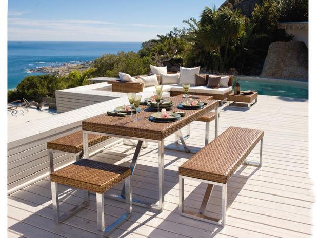 edelstahl gartenmobel lizzy heinen, schicke outdoor-möbel | zuhausewohnen, Design ideen