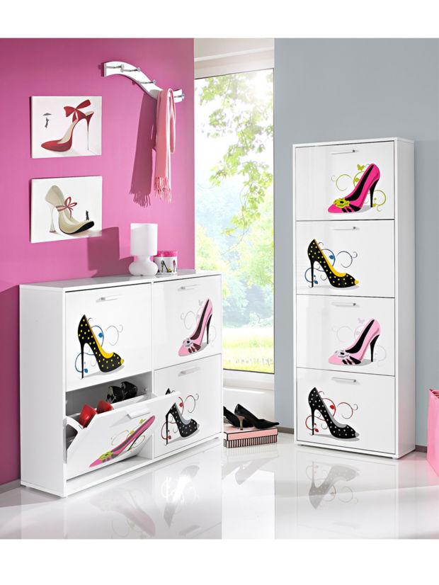 schuhschr nke zuhausewohnen. Black Bedroom Furniture Sets. Home Design Ideas