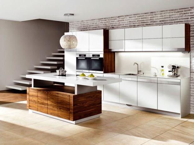 Fesselnd Moderne Küchen Mit Farbe