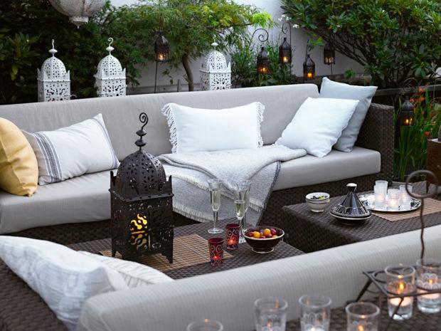 Sommerterrassen zuhausewohnen for Balkon orientalisch gestalten