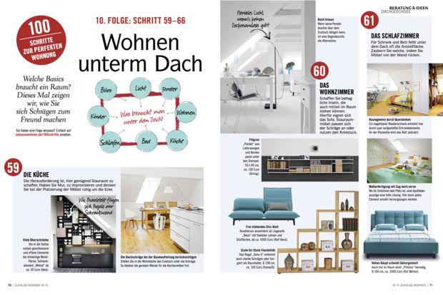 100 schritte zur perfekten wohnung zuhausewohnen. Black Bedroom Furniture Sets. Home Design Ideas