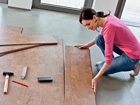 linoleum und kork zuhausewohnen. Black Bedroom Furniture Sets. Home Design Ideas