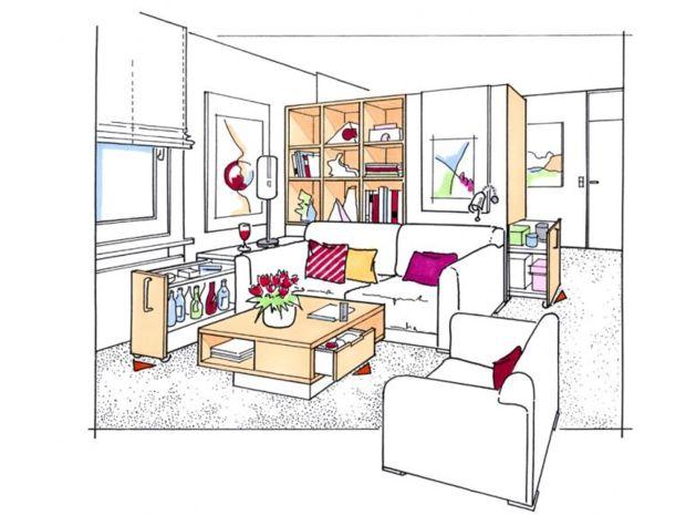 platzsparende m bel zuhausewohnen. Black Bedroom Furniture Sets. Home Design Ideas
