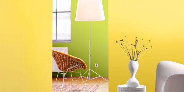 unser farben special bringt leben an ihre w nde zuhausewohnen. Black Bedroom Furniture Sets. Home Design Ideas