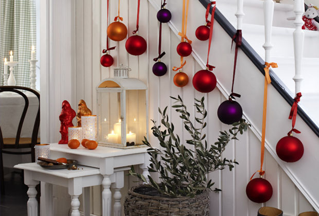 Advent zeit der vorfreude zuhausewohnen - Weihnachtskugeln fenster ...