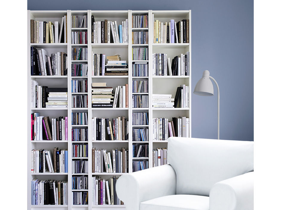 regalsysteme f r ihre b cher zuhausewohnen. Black Bedroom Furniture Sets. Home Design Ideas