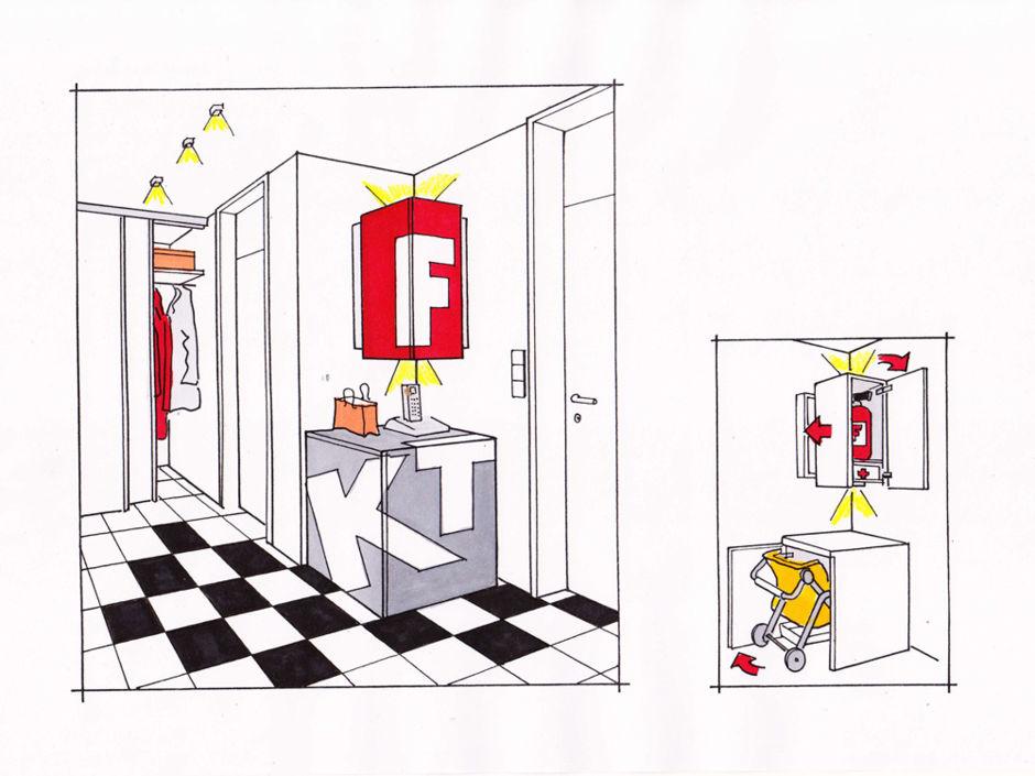 mehr stauraum im flur zuhausewohnen. Black Bedroom Furniture Sets. Home Design Ideas