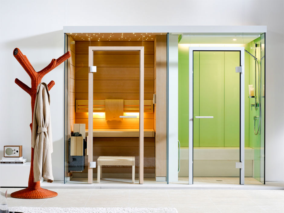 perfekte heimsauna zuhausewohnen. Black Bedroom Furniture Sets. Home Design Ideas