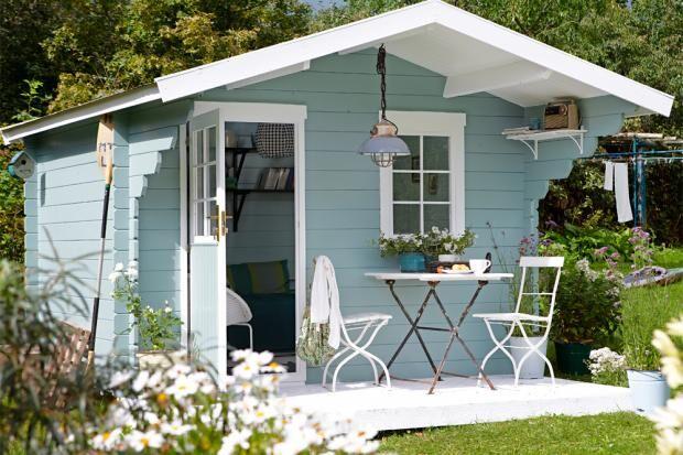 ein gartenhaus drei varianten zuhausewohnen. Black Bedroom Furniture Sets. Home Design Ideas