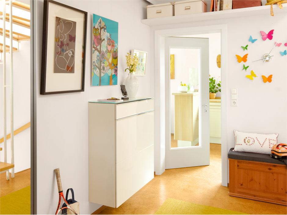 ein flur macht sich fein zuhausewohnen. Black Bedroom Furniture Sets. Home Design Ideas