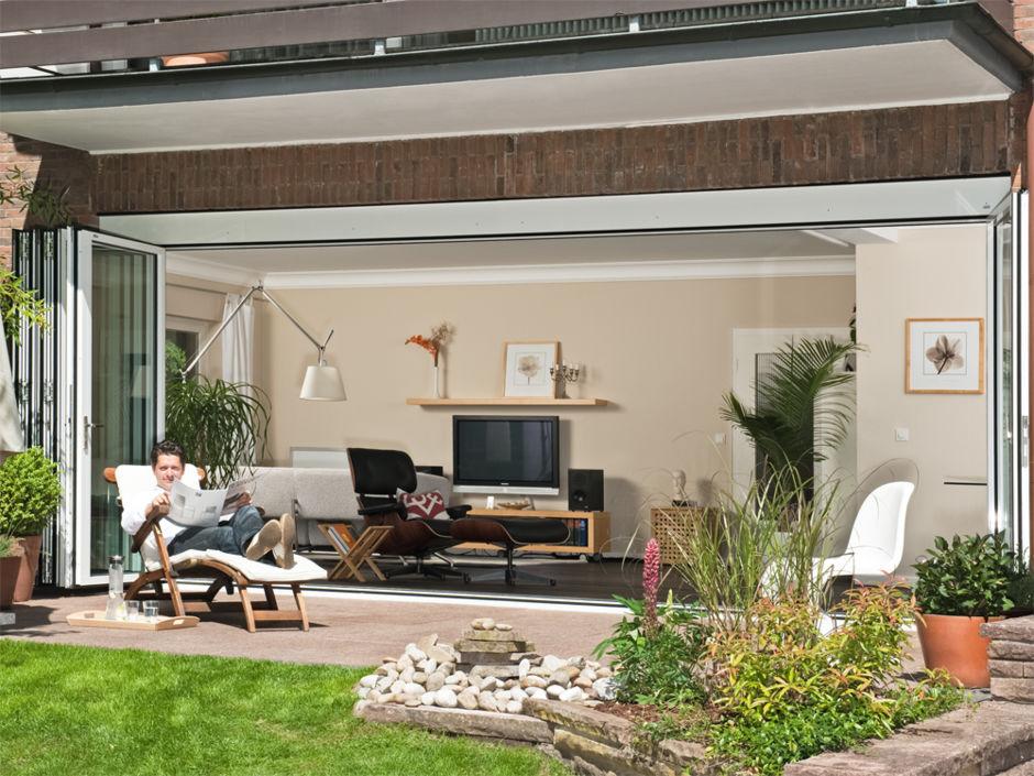 anbau aus glas zuhausewohnen. Black Bedroom Furniture Sets. Home Design Ideas