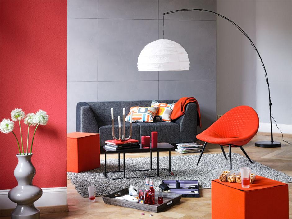 Knallfarben f r die wohnung zuhausewohnen - Wandfarbe beton ...