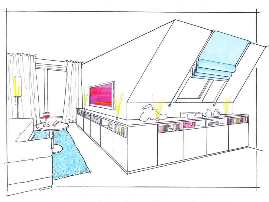 platzgewinn dank einbauten zuhausewohnen. Black Bedroom Furniture Sets. Home Design Ideas