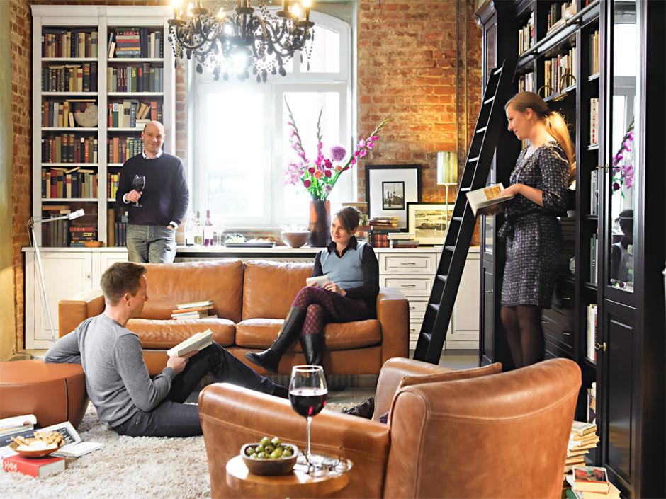 private bibliothek zuhausewohnen. Black Bedroom Furniture Sets. Home Design Ideas