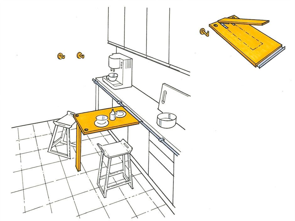 tische f r kleine r ume zuhausewohnen. Black Bedroom Furniture Sets. Home Design Ideas
