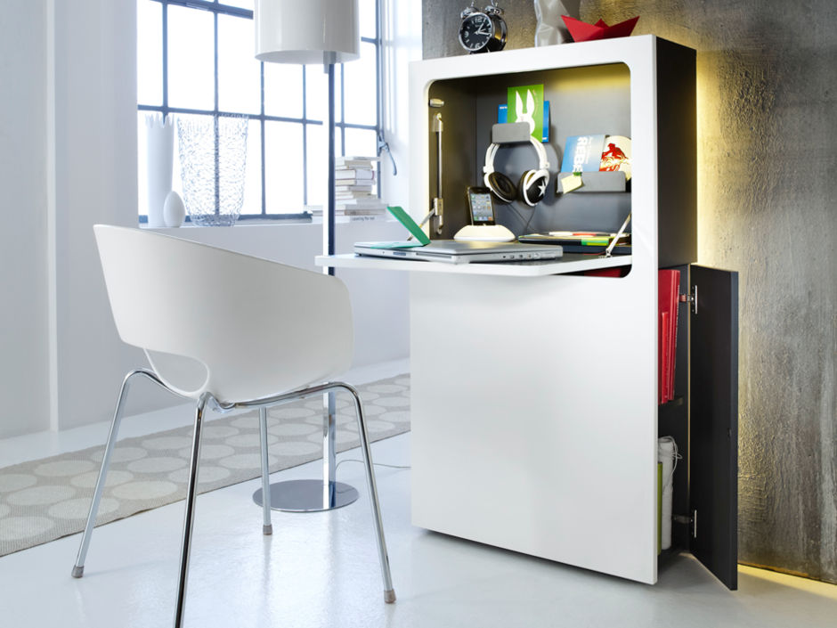 schreibtische zuhausewohnen. Black Bedroom Furniture Sets. Home Design Ideas