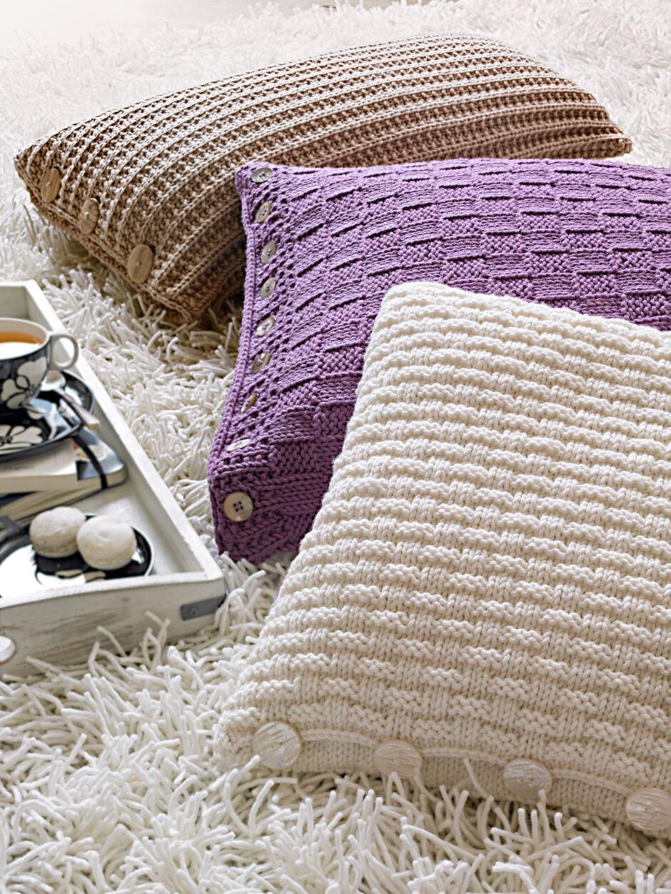 anleitung strickkissen aus merinowolle zuhausewohnen. Black Bedroom Furniture Sets. Home Design Ideas