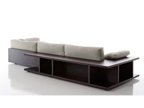 sofa designs mit integrierten regalen