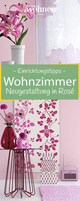 Ohne viel Aufwand bekommt euer Wohnzimmer mit diesen Einrichtungstipps eine feminine Note in Rosé.