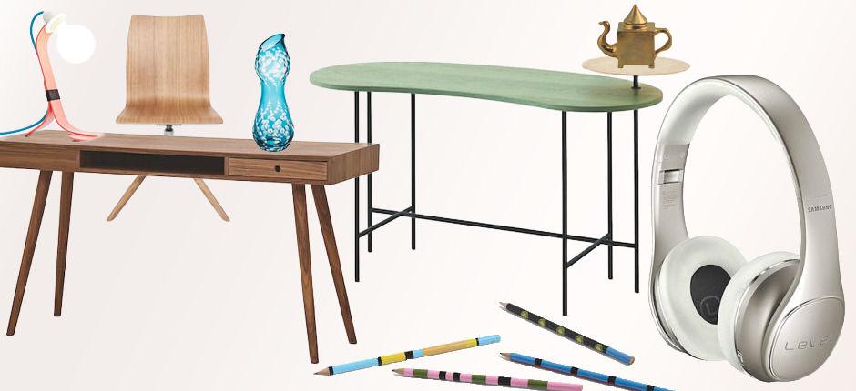 die sch nsten schreibtische zuhause wohnen. Black Bedroom Furniture Sets. Home Design Ideas