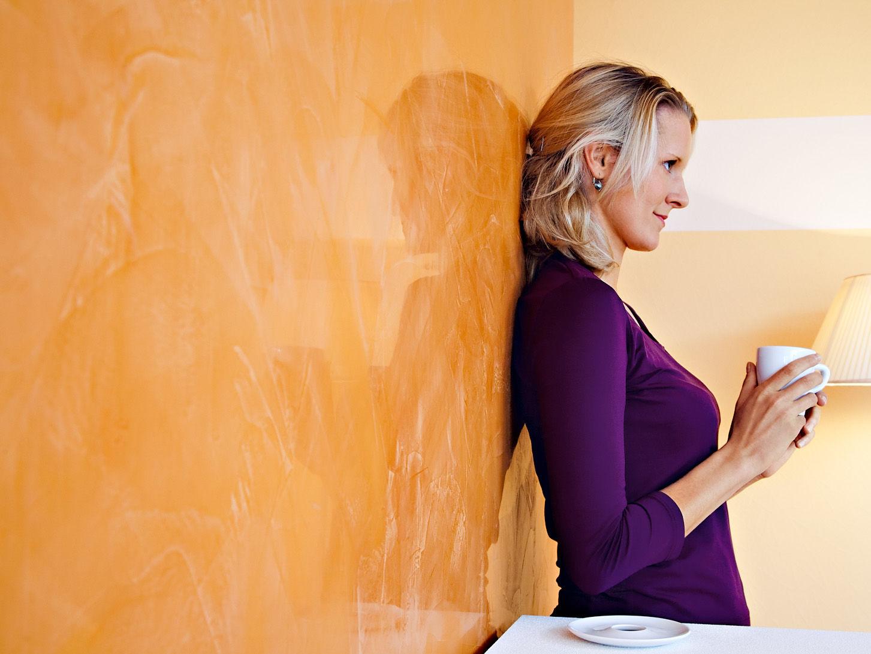Spiegelblanke Wand