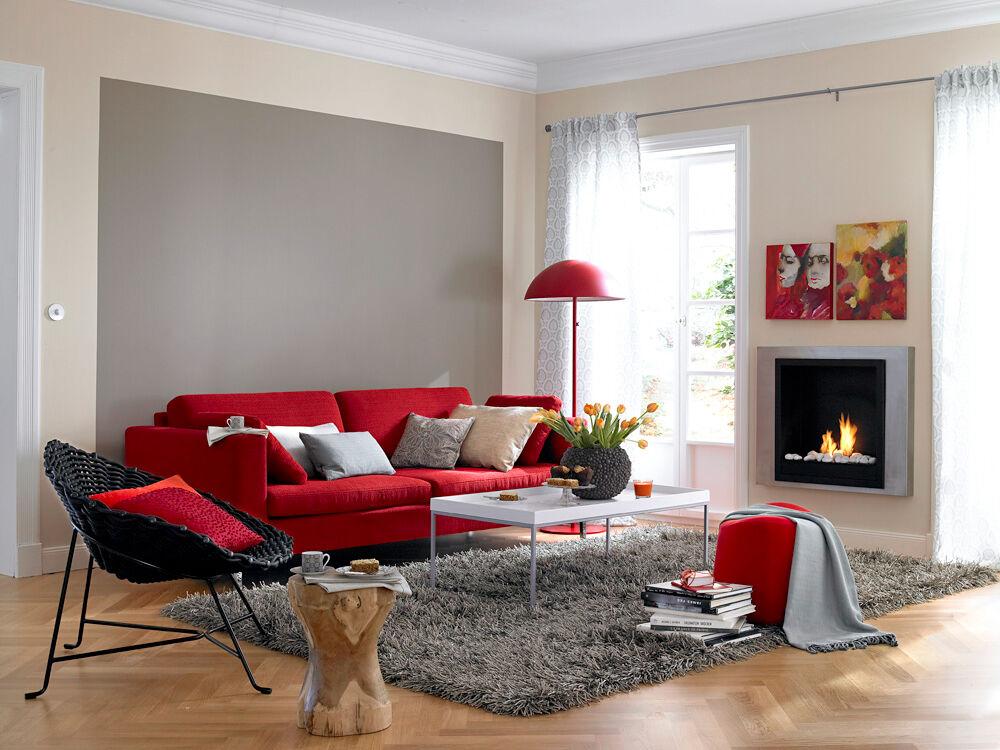 Wandgestaltung Wohnzimmer Grau Rot ~ Wandgestaltung Wohnzimmer Rot Ideen  Pin Farbgestaltung Wohnzimmer