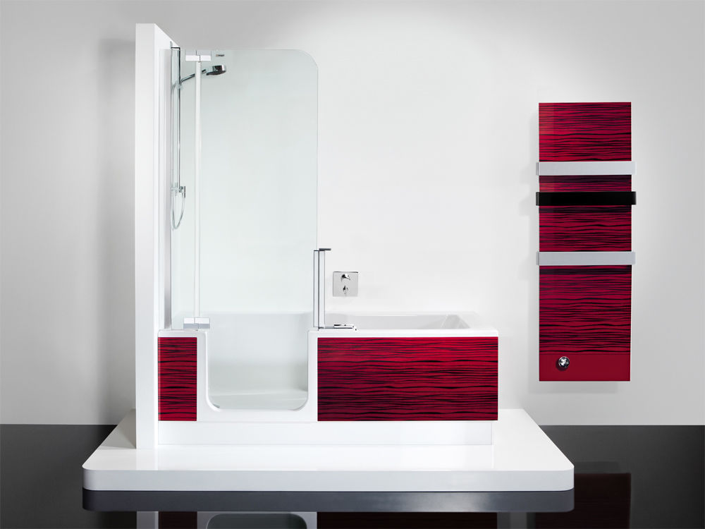 Bodennahe Dusche das minibad zuhausewohnen