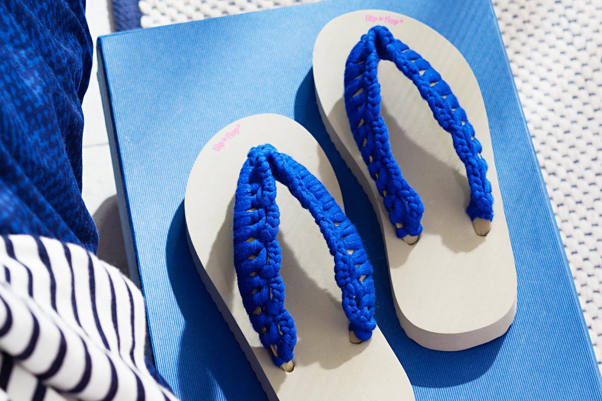 Blaue Flip Flops