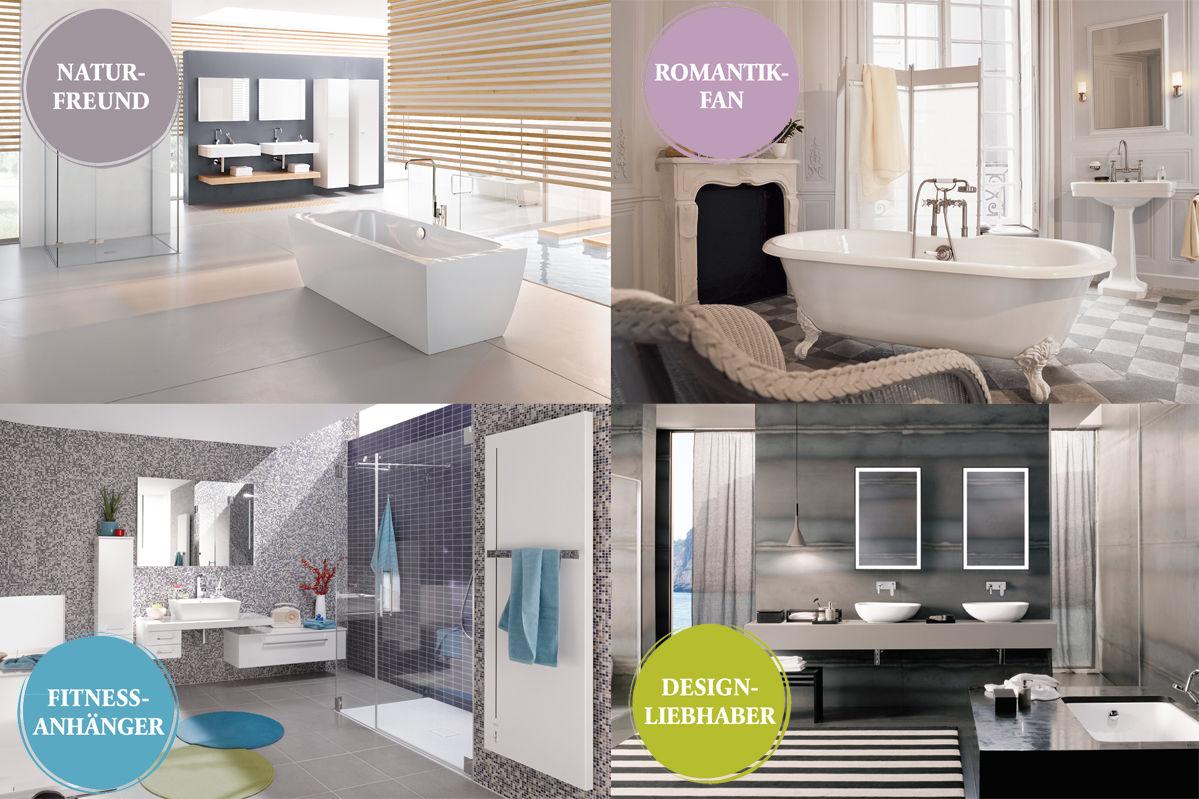 welcher badtyp bin ich zuhause wohnen. Black Bedroom Furniture Sets. Home Design Ideas