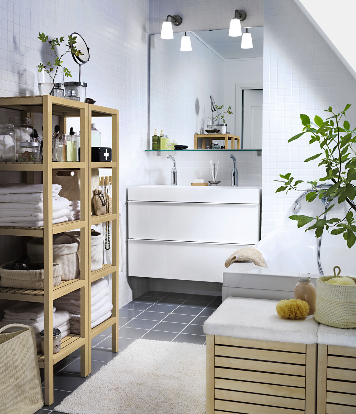 Arbeitszimmer gestaltungsmöglichkeiten ikea  Ideen für Familienbäder | Zuhausewohnen