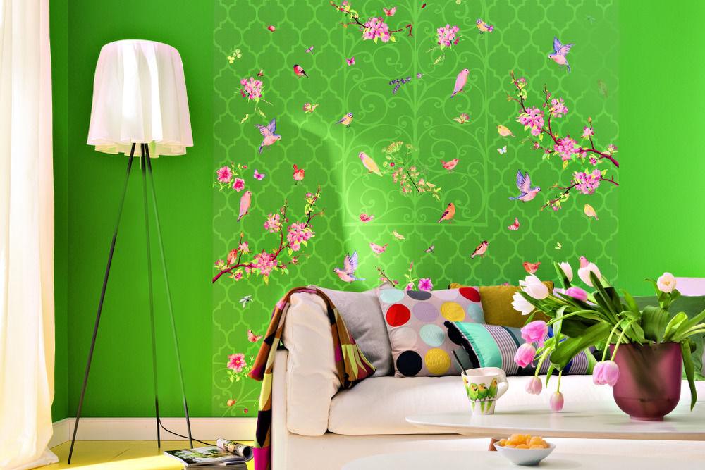 frisch gedruckt unsere tapeten zuhause wohnen. Black Bedroom Furniture Sets. Home Design Ideas