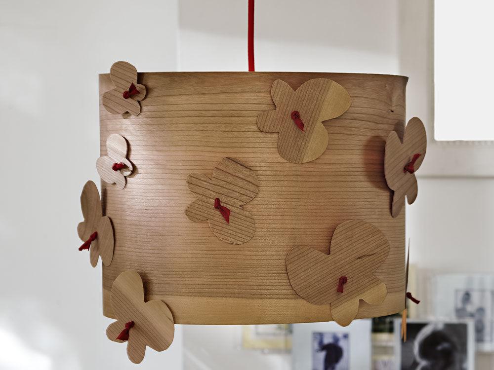 Holzschnittlampe