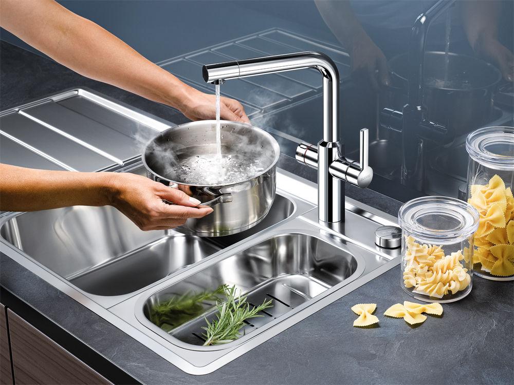 Küchenarmatur Hot Blanco