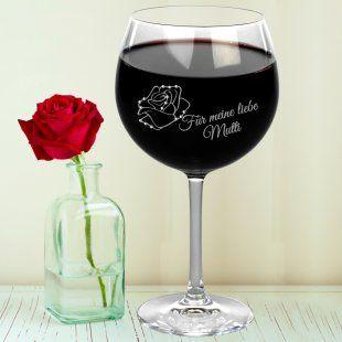 Weinglas zum Muttertag