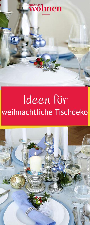Wie decken Sie Ihre Festtafel zu Weihnachten? Unser Tipp: Winterliche Eleganz durch Tischdeko in blau-weiß. Dazu gibt es verführerische Rezepte für ein Drei-Gänge-Menü.