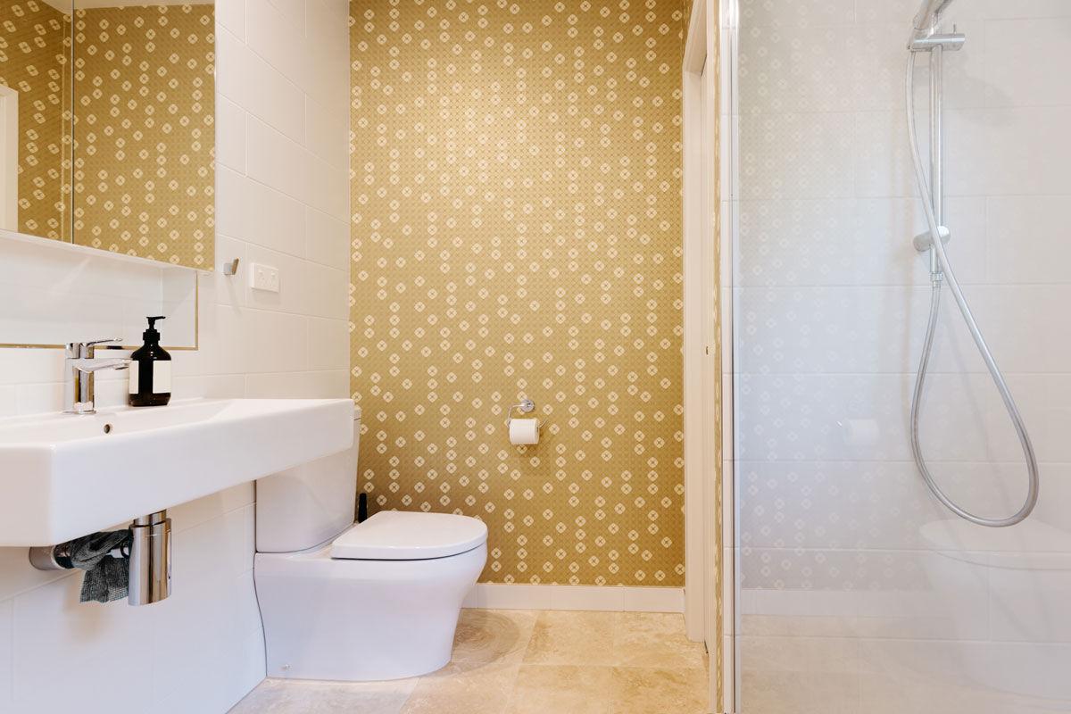 Tapete im Badezimmer Alternative zu Putz und Fliesen   Ideen ...