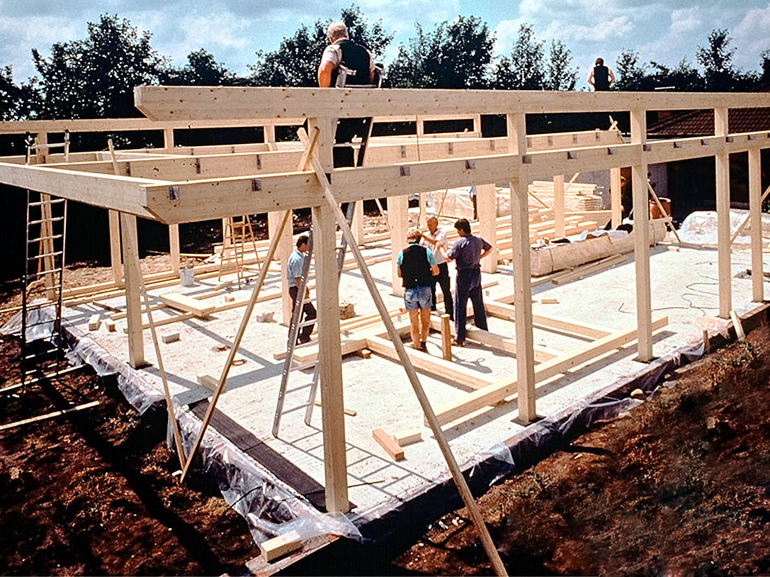 Holzskelettbau konstruktion  Holzbau mit System | Zuhause Wohnen