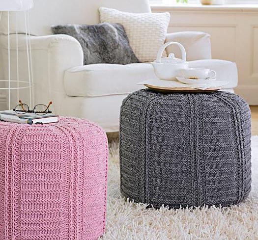 poufs mit geh keltem bezug zuhause wohnen. Black Bedroom Furniture Sets. Home Design Ideas