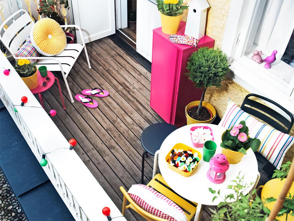 m bel f r den minibalkon zuhause wohnen. Black Bedroom Furniture Sets. Home Design Ideas