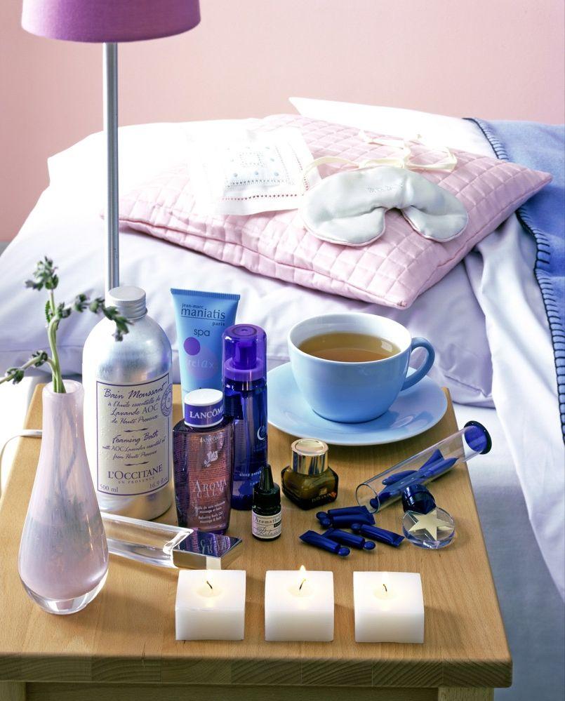 Bett schlafen Gast Wellness
