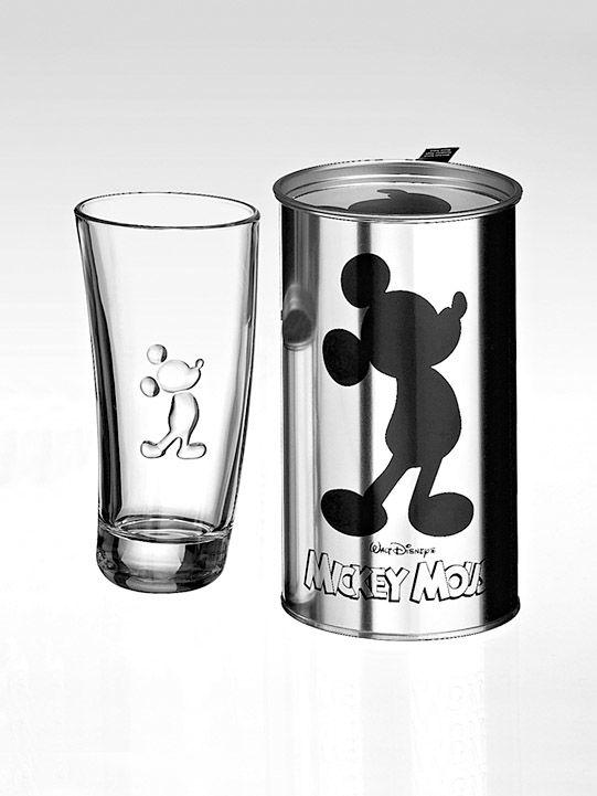 Mickey und Donald auf Glasbechern