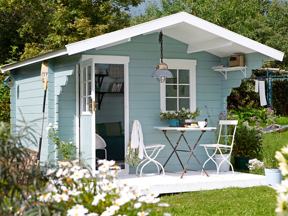 ein gartenhaus drei varianten zuhause wohnen. Black Bedroom Furniture Sets. Home Design Ideas