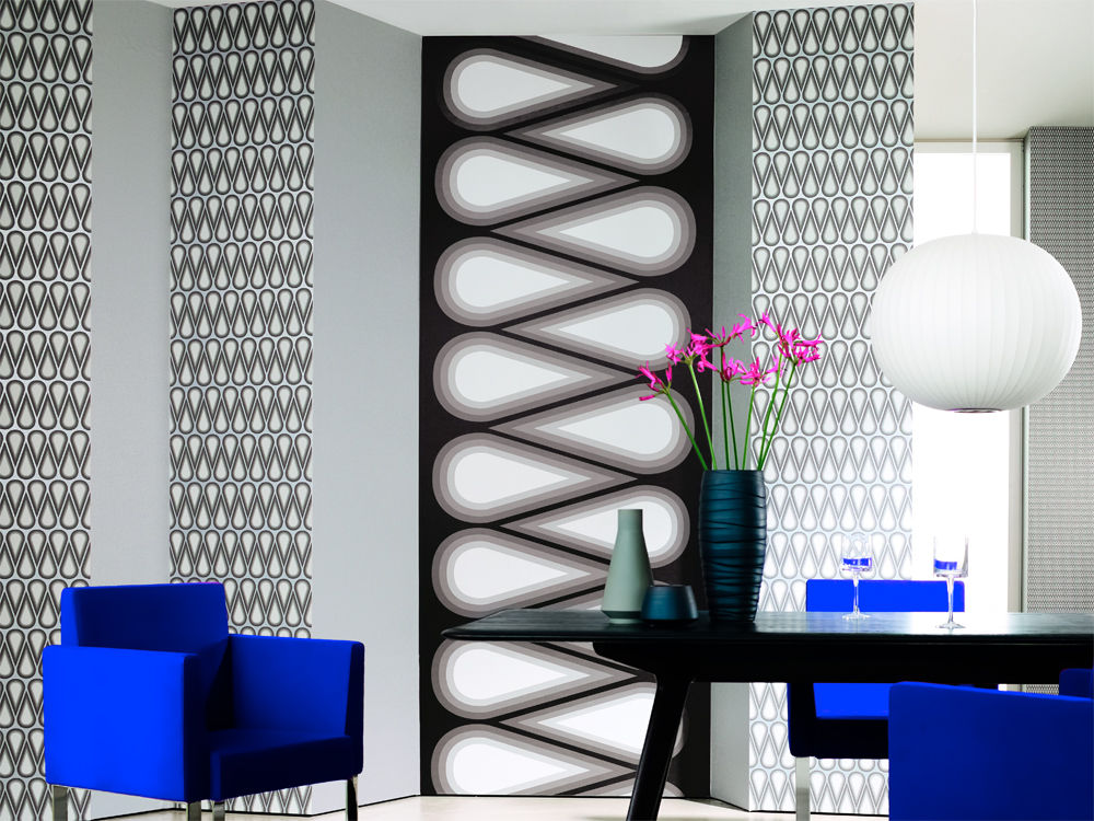 kunstobjekt tapete zuhause wohnen. Black Bedroom Furniture Sets. Home Design Ideas