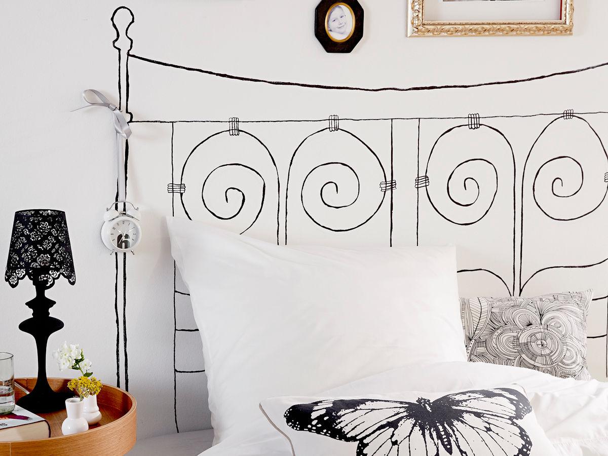 wandmalerei zuhause wohnen. Black Bedroom Furniture Sets. Home Design Ideas