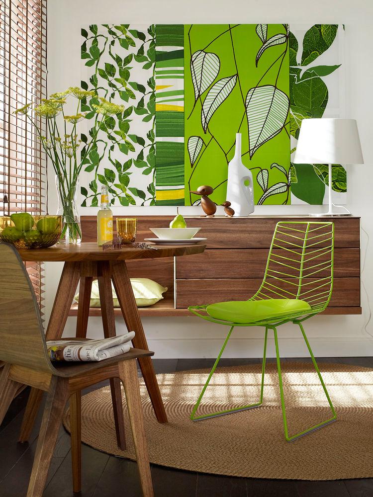 Blumen-Muster auf Tapeten, Wänden und Stoffen 5